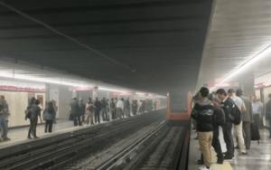 corto circuito en el metro de la CDMX