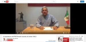 AMLO y su legalidad en medios de comunicación