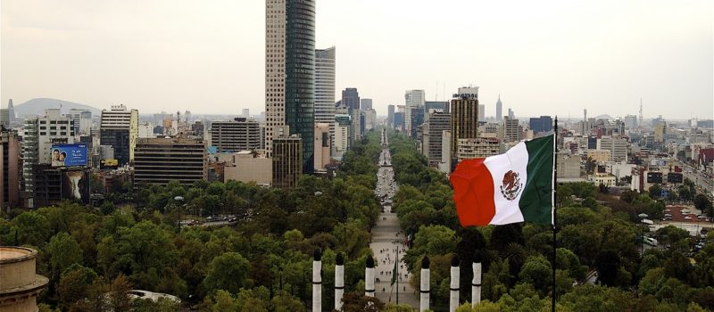 Bancera en la Ciudad de México